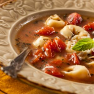 Cheese Tortellini and Vegetable Soup