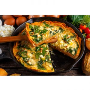 Spinach Frittata with Sweet Potato Crust