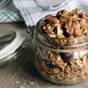 Granola with Fruit and Cinnamon