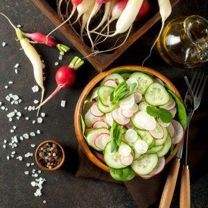 Lemony Cucumber Salad