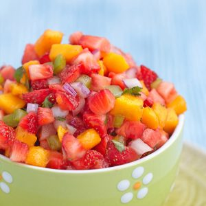 Fresh Fruit Salsa with Sweet Tortilla Chips