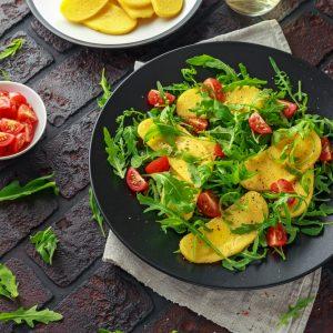 Baked Polenta & Tomato Salad