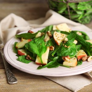 Green Salad with Apples & Walnut Dressing
