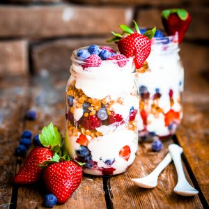 Fresh Fruit with Lemon Cream